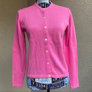 Lilly Pulitzer Pink Cardigan Button Up Size PS